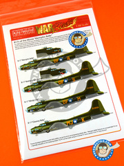 Kits World: Marking / livery 1/48 scale - Boeing B-17 Flying Fortress - USAF (US4) - water slide decals and assembly instructions - for Revell reference REV04297