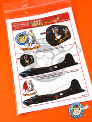 Kits World: Marking / livery 1/48 scale - Boeing B-17 Flying Fortress Mk. III - RAF (GB4) 1944 - water slide decals - for Revell reference REV04297