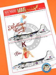 Kits World: Marking / livery 1/48 scale - Boeing B-17 Flying Fortress Mk. III - RAF Coastal Command (GB4) - water slide decals and assembly instructions - for Revell reference REV04297