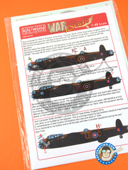 Kits World: Marking / livery 1/48 scale - Avro Lancaster B - RAF (GB4) - water slide decals and assembly instructions - for Tamiya references TAM61105, TAM61111 and TAM61112
