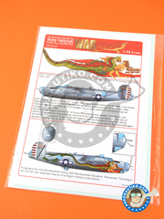 Kits World: Marking / livery 1/48 scale - Consolidated B-24 Liberator J - USAF (US7) - water slide decals and assembly instructions - for Revell reference REV5608