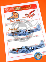 Kits World: Marking / livery - North American P-51 Mustang - USAF (US7) - Guadalcanal - water slide decals and assembly instructions - for Hasegawa reference 09130, or Tamiya reference TAM25147