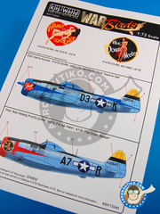 Kits World: Decals 1/72 scale - Republic P-47 Thunderbolt D - USAF (US7) - Ukranian - for Tamiya reference TAM61510