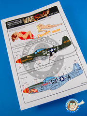 Kits World: Marking / livery 1/72 scale - North American P-51 Mustang - Summer 1944 (US7) 1944 and 1945
