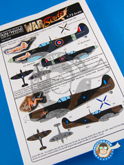 Kits World: Decals 1/72 scale - Supermarine Spitfire Mk Ixc - RAF (GB4); RAAF (GB5) - Guadalcanal 1944 and 1945