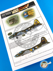 Kits World: Decals 1/72 scale - Boeing B-17 Flying Fortress G - USAF (US5); USAF (US7) - Guadalcanal 1944 - for Airfix reference A08017