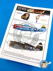 Kits World: Decals 1/72 scale - Republic P-47 Thunderbolt D - USAF (US7) - Guadalcanal 1944