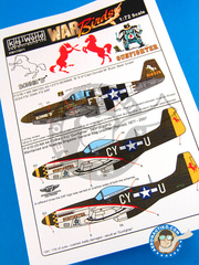 Kits World: Decals 1/72 scale - North American P-51 Mustang B - USAF (US7) - Guadalcanal 1944