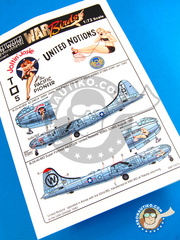 Kits World: Decals 1/72 scale - Boeing B-29 Superfortress - USAF (US7); USAF (US0) - Guadalcanal 1945 and 1950
