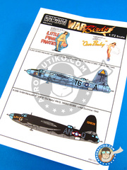 Kits World: Decals 1/72 scale - Martin B-26 Marauder C - USAF (US7); USAF (US6) - Guadalcanal 1944 and 1945