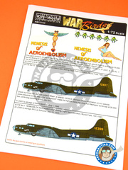 Kits World: Marking / livery 1/72 scale - Boeing B-17 Flying Fortress E - December 1943 (US7) 1941 and 1943 - water slide decals and assembly instructions image