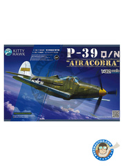 Kitty Hawk: Airplane kit 1/32 scale - Bell P-39 Airacobra Q / N - La France Combattante (FR0); Co-Belligerent AF, June 1944 (IT0);  (RU2); 1945 (RU2);  (US7) - different locations - photo-etched parts, plastic parts, water slide decals and assembly instructions