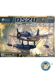 Kitty Hawk: Model kit 1/48 scale - OS2U Kingfisher - photo-etched parts, plastic parts, water slide decals and assembly instructions