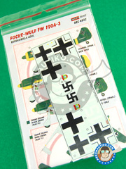Kora Models: Decals 1/48 scale - Focke-Wulf Fw 190 Würger A-3