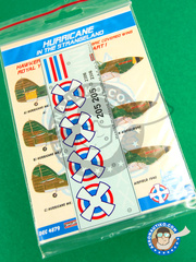 Kora Models: Decals 1/48 scale - Hawker Hurricane Mk. I