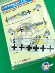 Kora Models: Decals 1/72 scale - Messerschmitt Bf 109 G-2/4