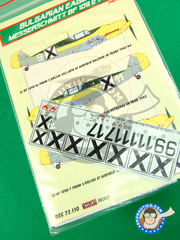 Kora Models: Decals 1/72 scale - Messerschmitt Bf 109 E-4/7