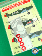 Kora Models: Decals 1/72 scale - Messerschmitt Bf 109 D