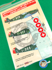Kora Models: Decals 1/72 scale - Messerschmitt Bf 109 E-3 - Part I