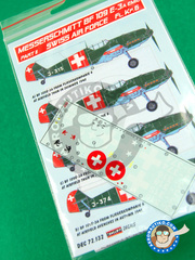 Kora Models: Decals 1/72 scale - Messerschmitt Bf 109 E-3 - Part II