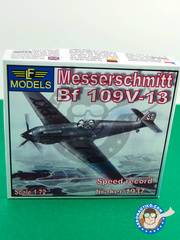 LF Models: Airplane kit 1/72 scale - Messerschmitt Bf 109 V-13 - plastic model kit