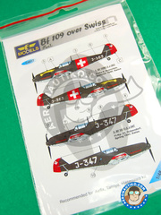 LF Models: Marking / livery 1/48 scale - Messerschmitt Bf 109 - Sommer 1940 (CH1) - water slide decals and placement instructions