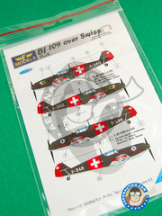 LF Models: Marking / livery 1/48 scale - Messerschmitt Bf 109 - Sommer 1940 (CH1); Spring 1940 (CH1) - water slide decals and placement instructions