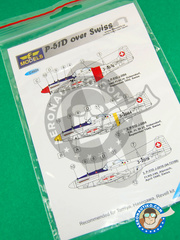 LF Models: Decals 1/48 scale - North American P-51 Mustang D - for Airfix reference A05131