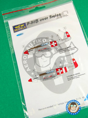 LF Models: Decals 1/48 scale - North American P-51 Mustang B - Guadalcanal - for Tamiya reference TAM61042