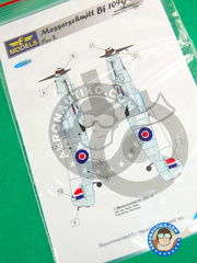 LF Models: Decals 1/48 scale - Messerschmitt Bf 109 G-10 - for Revell reference REV03958