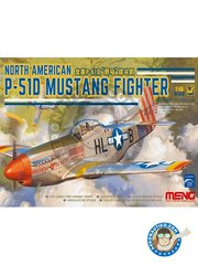 Meng Model: Airplane kit 1/48 scale - North American P-51D Mustang Fighter -  (US7) - USAAF - plastic parts, water slide decals and assembly instructions