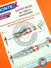 Montex Mask: Masks 1/48 scale - Messerschmitt Bf 109 G-6 - Swissair (CH1) - World War II - for Eduard kit 82111