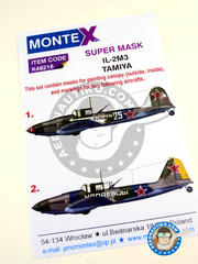 Montex Mask: Marking / livery 1/48 scale - Ilyushin IL-2 Shturmovik IL-2M3 - Russian Air Force (RU2) 1945 - for Tamiya reference TAM61113 image