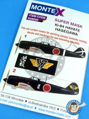 Montex Mask: Masks 1/48 scale - Najakima Ki-84 - IJAAF (JP0) 1945 - for Hasegawa kit image