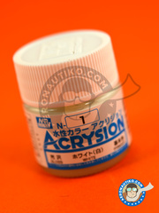 Mr Hobby: Acrysion Color paint - White gloss