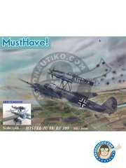 MustHave: Model kit 1/48 scale - Mistel Ju 88/Bf 109 - luftwaffe - plastic parts, resin parts, water slide decals and assembly instructions