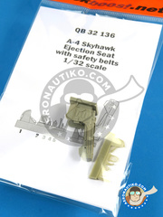 Quickboost: Ejection seat 1/32 scale - Douglas A-4 Skyhawk - resins - for Hasegawa reference 08063