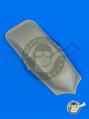 Quickboost: Armament cover 1/48 scale - Messerschmitt Bf 110 C-1/C-2/C-3 - resin - for Dragon and Eduard kit image