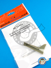Quickboost: Upgrade 1/72 scale - Republic P-47 Thunderbolt D-30 - resins - for Tamiya kit