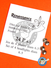 Renaissance Models: Detail - Focus 6.5mm - turned metal parts - 4 units