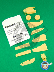 Renaissance Models: Upgrade 1/48 scale - Dewoitine D.520 - Ukranian - resins - for Tamiya kit