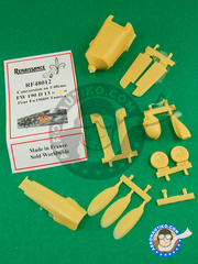 Renaissance Models: Upgrade 1/48 scale - Focke-Wulf Fw 190 Würger D-13 - resin parts and assembly instructions - for Tamiya kit and Dragon kit