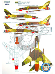 Renaissance Models: Decals 1/48 scale - North American F-100 Super Sabre - Armée de l'Air (FR3) - different locations - for all kits and versions image