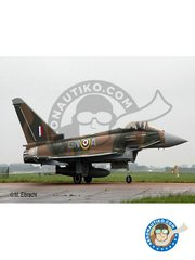 Revell: Airplane kit 1/72 scale - 100 Years RAF: Eurofighter Typhoon -  (GB0) - RAF - plastic parts, water slide decals and assembly instructions