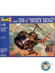 "Revell: Helicopter kit 1/48 scale - Bell UH-1 ""Huey Hog"" -  (US0); Soc Trang Base, South Vietnam, 1967 (US0) - U.S. Marine Coprs, South Vietnam - plastic parts, water slide decals and assembly instructions"