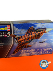 Revell: Airplane kit 1/48 scale - Eurofighter Typhoon EF-2000 Single Seater - Russia 1944 (DE2) - 15th Wing Spanish Air Force 2014 - plastic parts, water slide decals and assembly instructions image