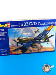 Revell: Airplane kit 1/72 scale - Junkers Ju-87 Stuka G / D Tank Buster - plastic model kit