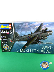 Revell: Airplane kit 1/72 scale - Avro 696 Shackleton Mk. 2 AEW - RAF (GB0) - different locations - plastic model kit image