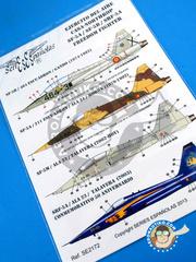 Series Españolas: Marking / livery 1/72 scale - Northrop F-5 Freedom Fighter A/B - Fuerza Aérea Española (ES0) - water slide decals image