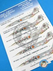 Series Españolas: Marking / livery 1/32 scale - Lockheed F-104 Starfighter G - Fuerza Aérea Española (ES0) - Torrejon Air Base - water slide decals - for Italeri reference ITA2502 image